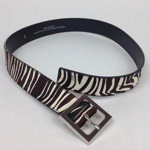 Zebra stripe belt